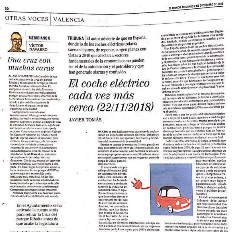 The electric car is getting closer and closer [El Mundo]